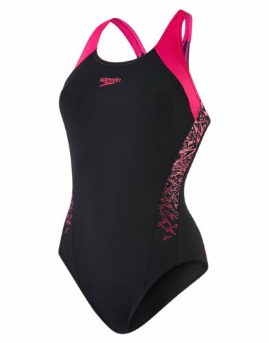Speedo Boom Splice Racerback Chlorine Resist Soft Womens Swimming Costume *SALE*