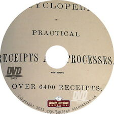 Dick's Encyclopedia of Practical Receipts and Processes { 1872 } on DVD