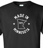 """Made in Minnesota"" T-Shirt S-4XL north star state vikings gophers minneapolis"