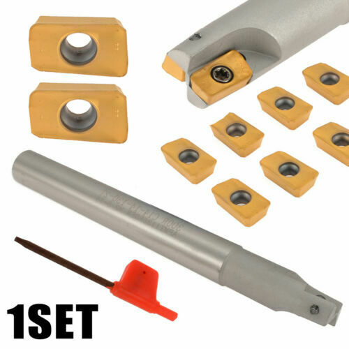 1x BAP 300R C14-14-130 Indexable Milling Cutter 10x APMT1135PDERDP Inserts Set