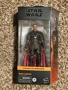 "Star Wars Black Series Moff Gideon 6"" Figure In Hand"