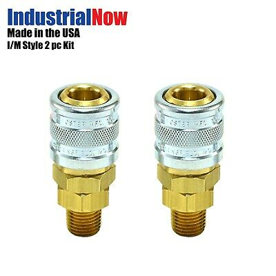 """5 pcs Heavy Duty Quick Coupler Air Hose Connector Fittings 1//4/"""" NPT Tools USA"""