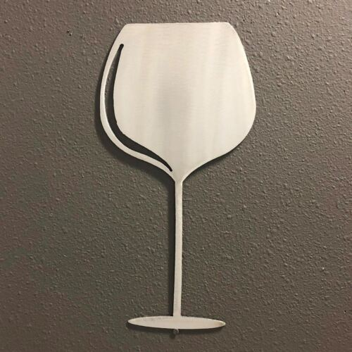 Wine Glass 3 Metal Wall Art Skilwerx 9 x 3 Wine