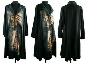 Ladies Women CoverUp Quirky Long Sleeve Satin Detail Fancy Cocktail Party Jacket