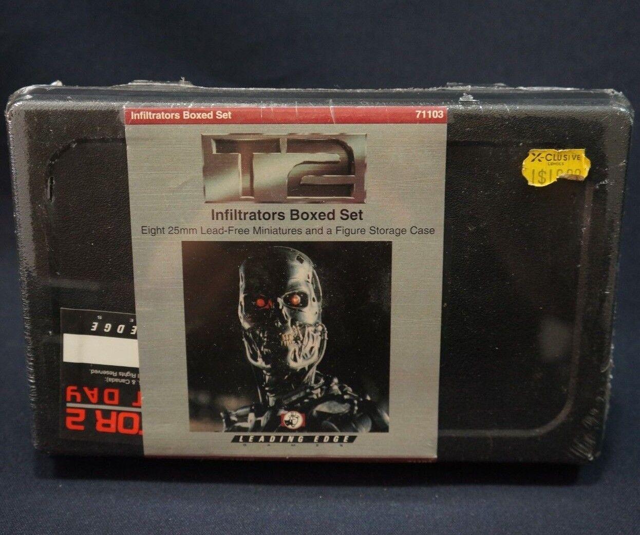 Terminator T2 Metal Miniatyrs Infiltratorer låda Set 8 Figurer 25mm w  Case robotar