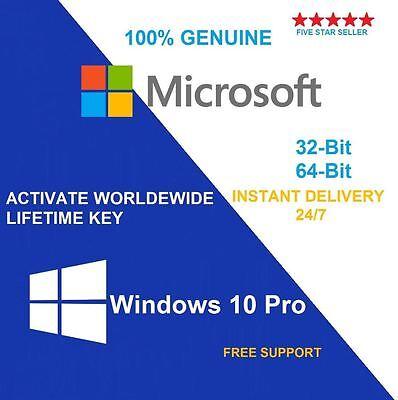 Windows 10 PRO Professional 32 / 64 BIT OEM Original License Key + Download Link