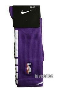 Infrarrojo recoger Asesorar  NIKE ELITE QUICK NBA CREW BASKETBALL SOCKS LAKERS PE PSK647-505 L(8-12) |  eBay