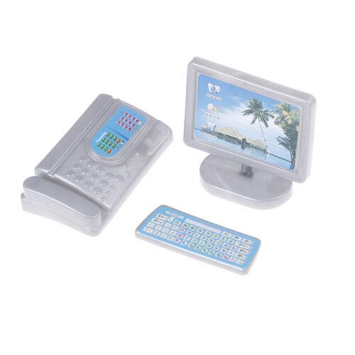 Puppenhaus Miniatur moderne Computermöbel für Puppenkinder Spielzeugmö RSDENIDE