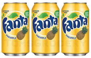 3-x-FANTA-PINEAPPLE-Flavor-Soft-Drink-Full-Unopened-Soda-Cans-355ml-12-fl-oz