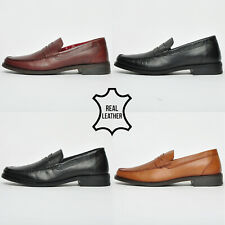 SALE - Red Tape REAL LEATHER Mens Slip On Loafer Designer Shoes From Only £9.99
