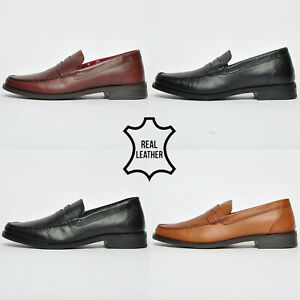 SALE - Red Tape REAL LEATHER Mens Slip On Loafer Designer Shoes ALL ONLY £9.99