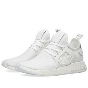 buy online 699d2 03028 Image is loading adidas-originals-NMD-XR1-Primeknit-Triple-White-BB1967-