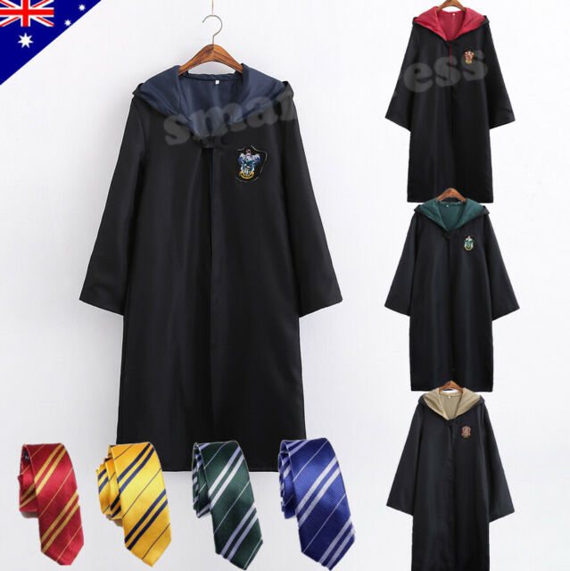 2d64361f04c92 Harry Potter Adult Kids Robe Cloak Gryffindor Slytherin Tie Cosplay Costume  Cape