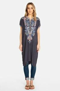 Johnny-Was-Lania-Embroidered-Short-Sleeve-Tunic-Dress-Boho-Chic-B21119-NEW