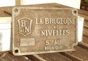 Lokschild-Fabrikschild-Typenschild-La-Brugeoise-et-Nivelles-Belgien-B-et-N-1966