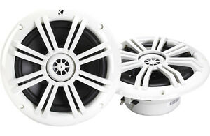 Kicker-41KM604W-6-1-2-034-2-way-Coaxial-Marine-Speakers-Pair-NEW