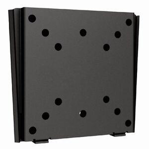 Low-Profile-Universal-13-034-27-034-Flat-TV-Wall-Mount-Bracket-VESA-50-75-100-mm-Black