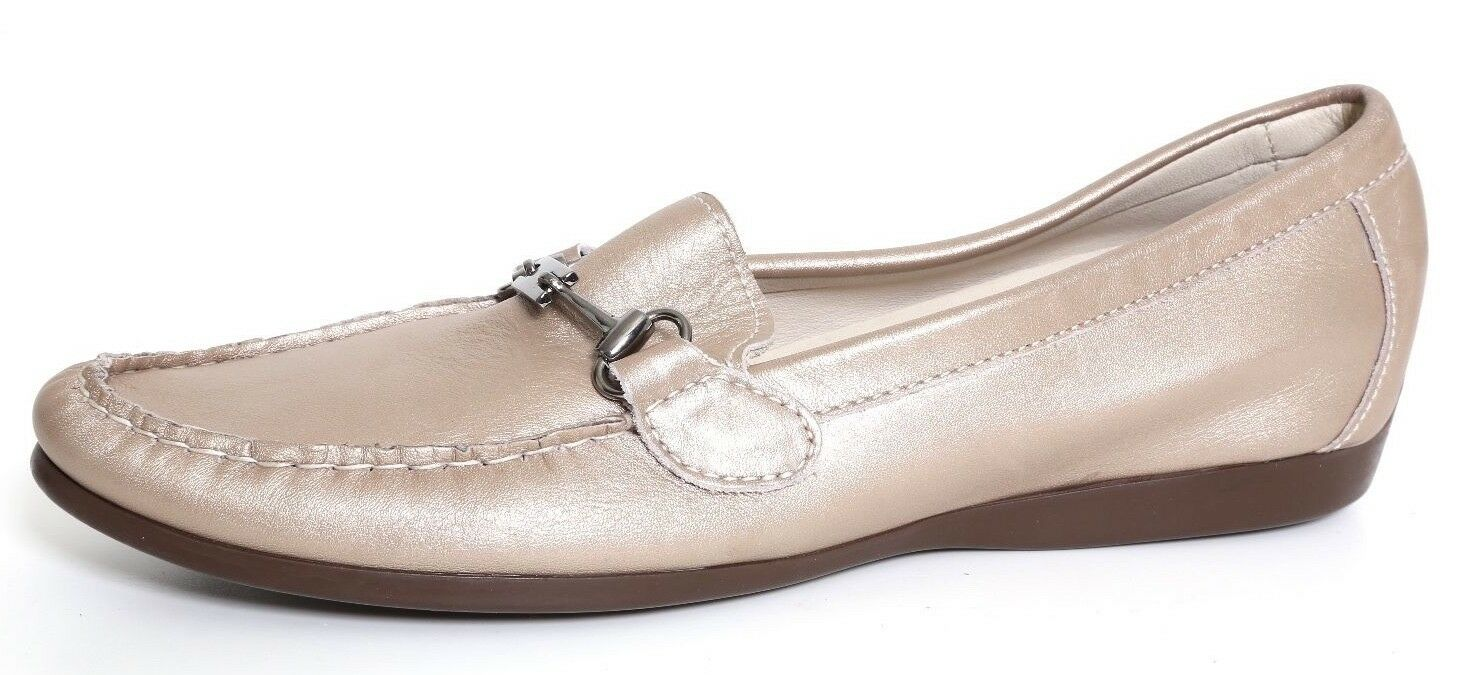 Munro American Kimi Taupe Meta Leather Women's Slip On Loafer Size 7.5 N 1086