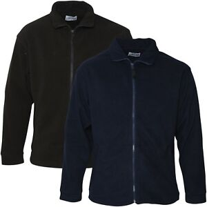 Mens-Full-Zip-Up-Fleece-Jacket-Work-Casual-Leisure-Coat-Sports-Top-Sizes-S-2XL