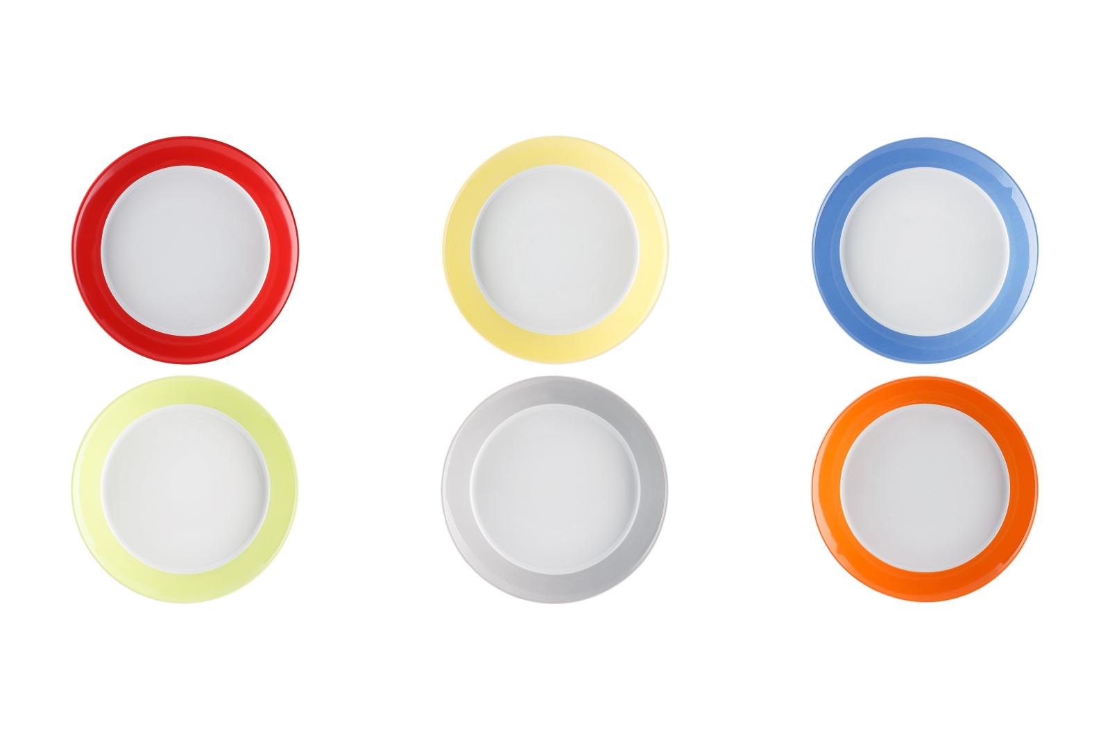 6 x Soup Plates 21 CM-TRIC Colourful-Arzberg-Assorted Colours