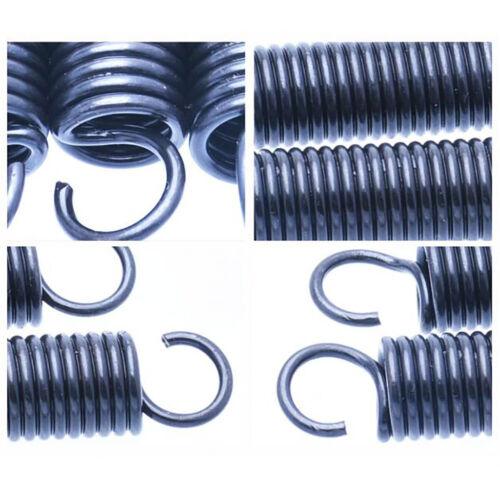 Zugfeder mit Haken Schwarz Federstahl Zugfedern Stahlfeder 0,3mm bis 2mm Draht-Ø