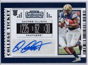Qadree Ollison RC Auto 2019 Contenders Draft Picks #175 Pitt - ATL Falcons RB