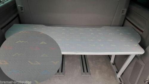 53cm  Stoff T4 VW T5 /& T6 Multivan Multiflexboard Bettverlängerung Ablage H
