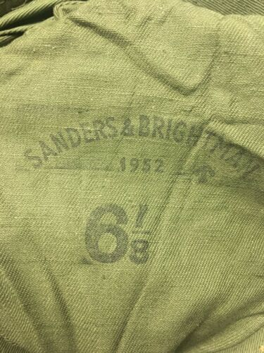 Vtg 1952 NOS Korean War British Boonie Hat 6 1//8 50s Sanders Brightman 6066h