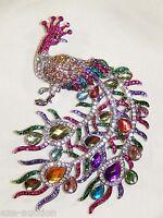 Majestic 5 Multicolor Peacock Brooch / Pin Comes In Gift Box - Usa