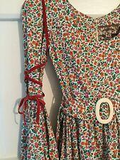70's Droopy & Browns York. VGC vintage tiered prairie/folk ribbons puff sleeves