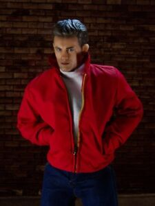 7bba11daf Details about Rebel Without A Cause James Dean Jim Stark Red Jacket