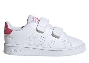 Adidas-ADVANTAGE-I-EF0300-Bianco-Dal-20-al-27-Sneakers-Con-Strappo-Bambina