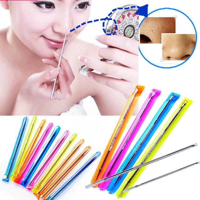 2/5/10 Stainless Acne Pimple Remover Needles Blackhead Extractor Comedone Tool