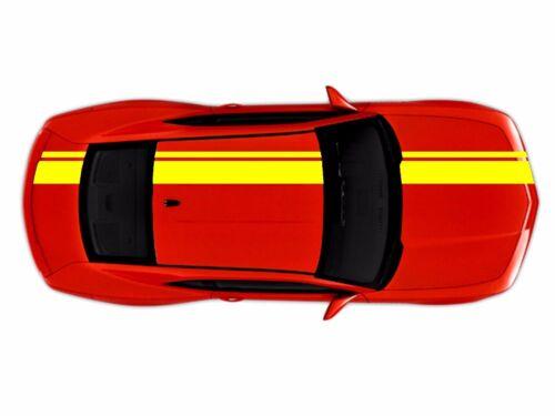 "NEW Chevy CAMARO 2/"" /& 8/"" Rally Double RACING STRIPES Gloss Yellow vinyl Decal"