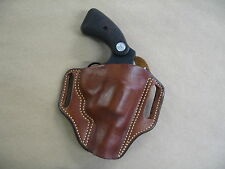 Colt Detective Special Revolver Leather 2 Slot Pancake Belt Holster CCW TAN RH