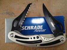 SCHRADE AVATAR AV22 2-BLADE LINERLOCK KNIFE USA MADE COLLECTIBLE BOX