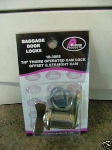 "7//8/"" Thumb Lock Prime Products 18-3065 2 RV Trailer Camper Compartment Lock"
