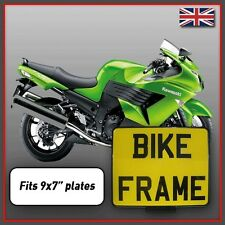 "Motorcycle Motorbike Motor Cycle Bike Number Plate Surround Frame Holder 9x7"""