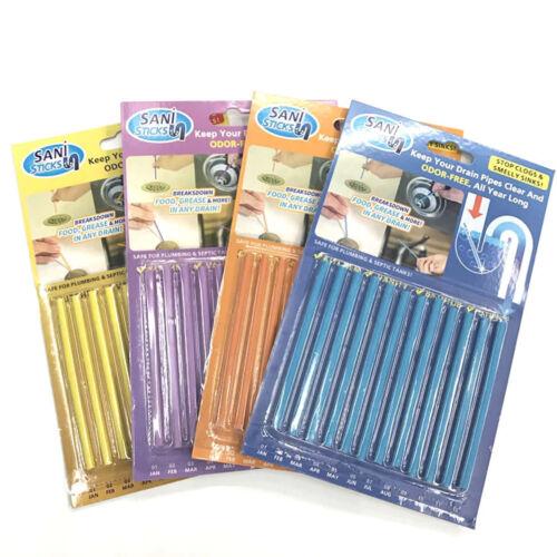 12 Sani Sticks Abflussreiniger Geruchsentferner Küche Badewannenspüle ee SHN