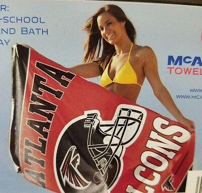 Team Colors WinCraft NFL Atlanta Falcons Towel30x60 Beach Towel One Size