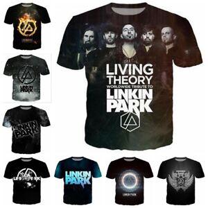 Rock-band-Linkin-Park-3D-Print-Women-men-Casual-Short-Sleeve-T-Shirt-Tops-S-5XL