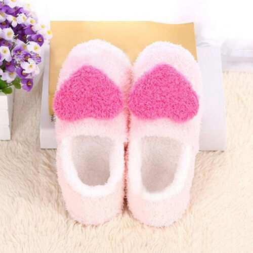 Damen Herren Hausschuhe Winter Plüsch Pantoffel Flache Slippers Indoor Schuhe