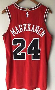 more photos af74b bee10 Details about Lauri Markkanen Nike Aeroswift Authentic Chicago Bulls  Autographed NBA Jersey