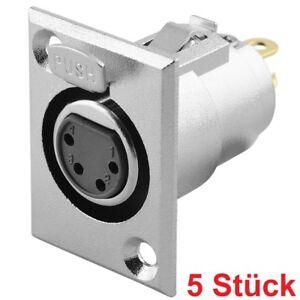 Audio-Mikrofon-Einbaukupplung-Einbaubuchse-Ersatzbuchse-4polig-zum-Einbau-Pin
