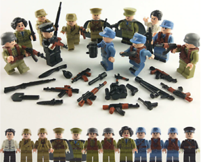 12Pcs-Set-Lego-Military-Series-WW2-China-VS-Japan-Soldiers-With-Weapon