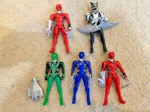 5 POWER RANGERS JUNGLE FURY LOT. Bonus 3 MISC Power Rangers. 8 Total!