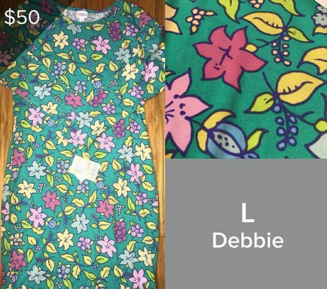 LulaRoe Debbie Large Gorgeous Floral Perfect for Spring and Summer NWT