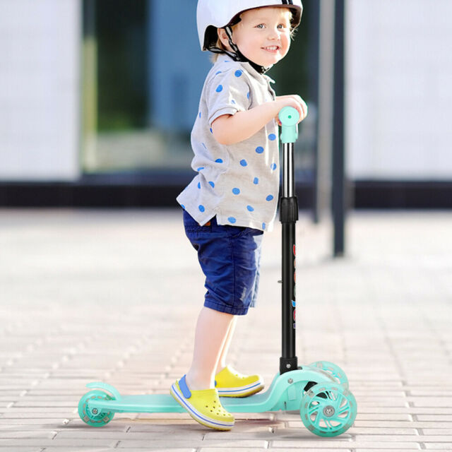 Outon3 Wheel Adjustable Height Kick Scooter For Kids Toddler Girls and Boys-Pink