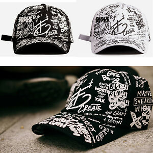 e1a55b9e09a349 Image is loading XL-2XL-60-63Cm-Unisex-Sketch-Graffiti-Trucker-