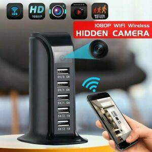 HD WiFi Hidden Camera Socket Charger Wireless Nanny DVR Cam Video Recorder US